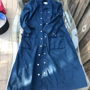 Long sleeves front button up dress